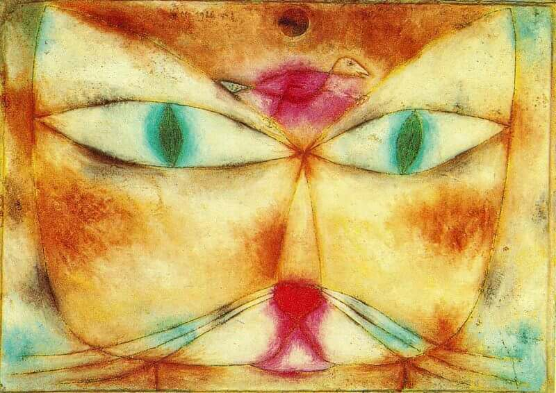 Cat and Bird, 1928 by Paul Klee