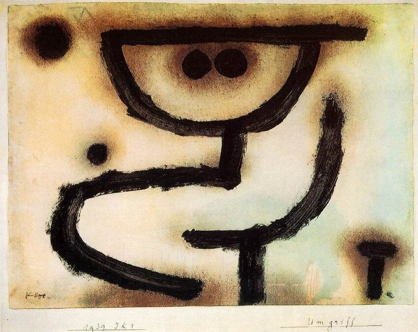 Embrace, 1939 by Paul Klee
