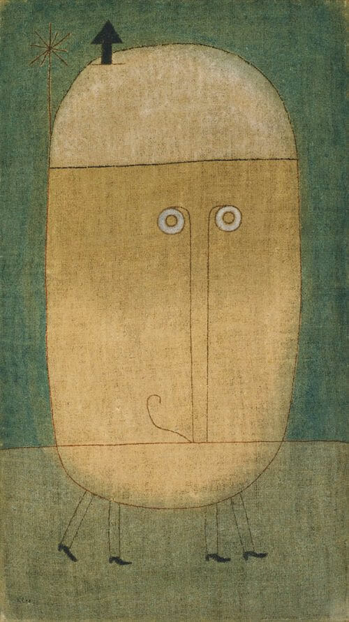 mask of fear 1932 by paul klee