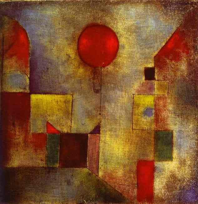 Red Baloon, 1922 by Paul Klee