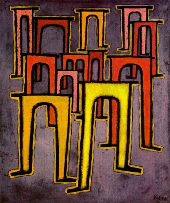 Revolution of the Viaduct, 1937 by Paul Klee